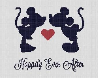 counted cross stitch pattern disney mickey minnie marriageweddinglove lgbt friendly instant pdf download