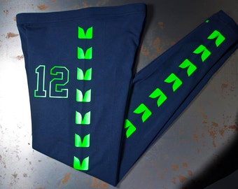 Seattle Seahawk LEGGINGS - Womens pants Clothing Similar to Seahawks jerseys - women legging pant