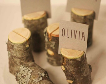 20 pieces rustic place card holders, Wedding placecard, name holdes.