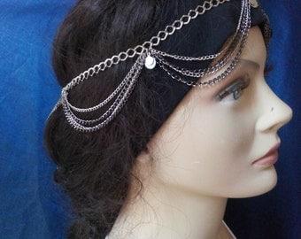 Head Piece, Hair Paice, Boho Style Head Peice, Bohemian Style Hair Chain, Head Chain, Summer Accessories