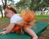 Thanksgiving tutu w/ headband, Fall themed tutu costume w/ headband, Halloween costume tutu w/ headband, 1st birthday costume tutu