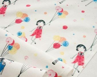 20s Cotton 100% Fabric - Paris Travel with Balloon