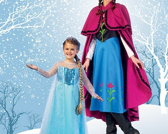 McCall's Pattern MP381/M7000 Winter Princess Dresses, and Cape with Collar and Capelet