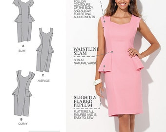 Simplicity Sewing Pattern 1417 Misses' and Women's Amazing Fit Peplum Dress