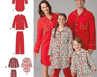 Child's, Teens' and Adults' Loungewear Simplicity Pattern 1504