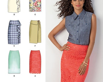 Simplicity Sewing Pattern 1465 Misses' Slim Skirt in Two Lengths