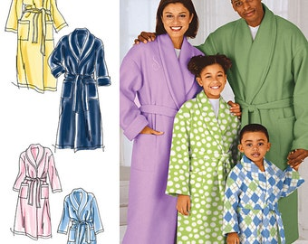 Simplicity Sewing Pattern 1562 Child's, Teens' and Adults' Robe and Belt