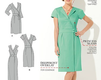 Simplicity Sewing Pattern 1686 Misses' & Miss Petite Amazing Fit Dress