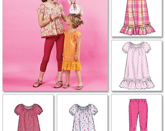 Children's/Girls' Top, Dresses, and Leggings McCall's Pattern M6500