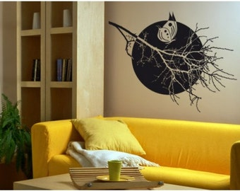 Full Moon Halloween wall decal, sticker, mural, vinyl wall art