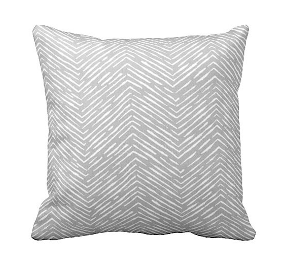 7 Sizes Available: Euro Pillow Cover Grey by ReedFeatherStraw