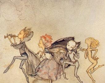 Arthur Rackham The Tempest Fridge Magnet Illustration  by William Shakespeare #14