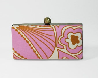Rose and Gold Floral Minaudiere