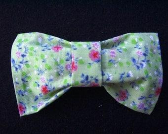 Mint Green Flower Hair Bow