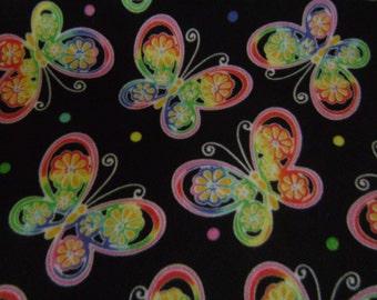Bright Color Butterfly Fleece Blanket
