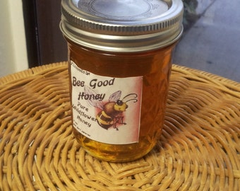 1 lb jar of wildflower honey