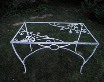 Vintage wrought iron Salterini dogwood dining table  ***READ LISTING BEFORE purchasing*****