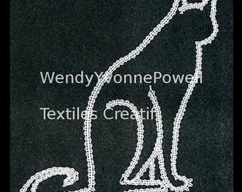Bobbin Lace Pattern, Wendy Yvonne Powell, Philosophising Cat, Braid Lace, Russian Braid Lace,Tape Lace, Pillow Lace, Dentelles, Kantklossen