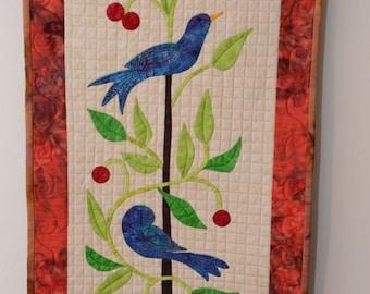 summer bird quiltje
