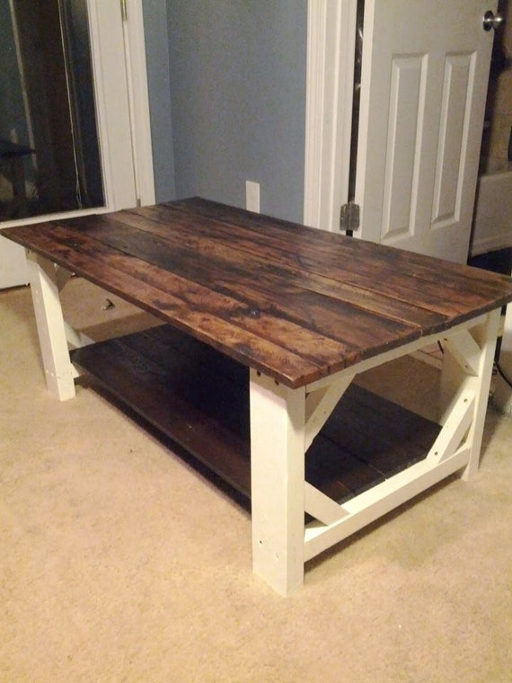 Handmade farmhouse style coffee table local by parkerandbriggs Farm style coffee tables
