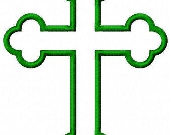 Cross 2 Applique Embroidery Design
