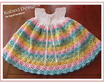 Dreamy Rainbow Dress pattern, girls dress pattern