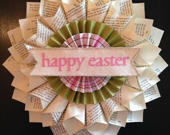 Happy Easter Wreath in Green