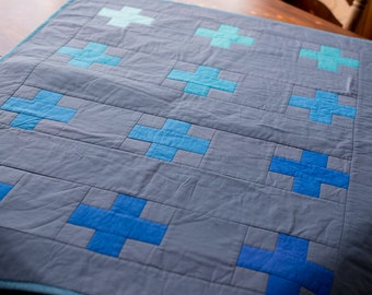 Blue and Gray Crib Quilt