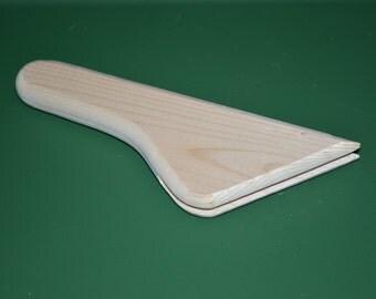 "Fan handle, wood,  Native American 7 3/4"" Angled- Feather Fan Handle Powwow"