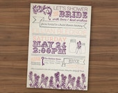 Rustic Bridal Shower Invite
