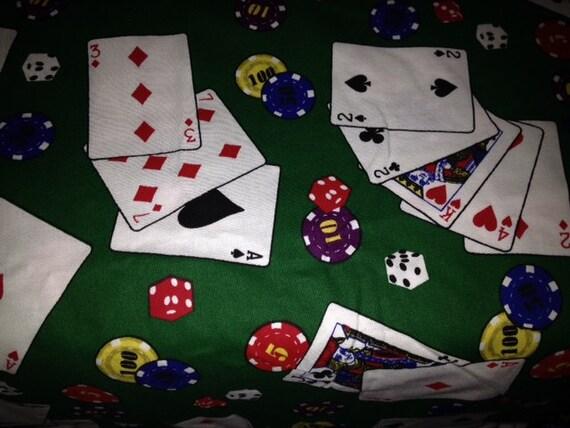 1 Yard Poker Novelty Fabric Poker Playing Cards Poker