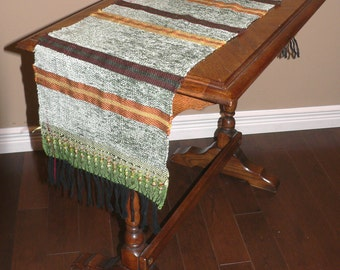 Handwoven Saori table runner