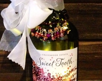 Sweet Tooth Lighted Wine Bottle