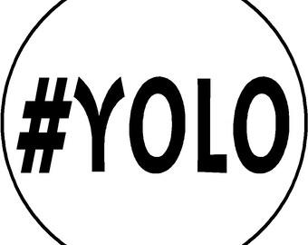 Yolo keychain | Etsy