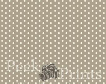 5ft.x5ft. Grey Polka Dot  Vinyl Backdrop