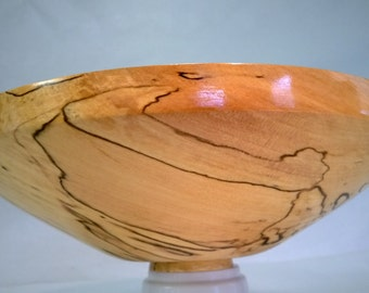 Spalted beech wood bowl.