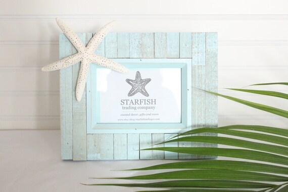 Starfish Photo Frame- Aqua