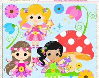 Pretty Fairy Clipart Set - For Commercial and Personal Use