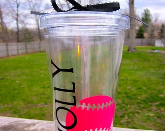 Girls Softball Tumbler- Great Team or Coach Gift