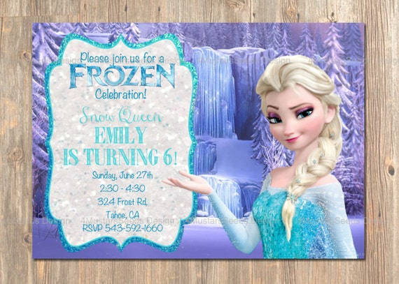 items similar to frozen birthday invitation, elsa frozen, Birthday invitations