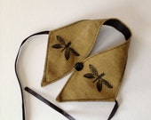 Wine Butler, a wine vest for your bottle of wine, dragonfly motif fabric, hostess gift or party decoration