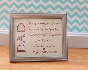 Father's Day Frame 2014 - Dad / Father Poem