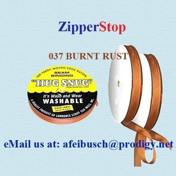 BURNT RUST Hug Snug Seam Binding 100 Yard Roll 1/2