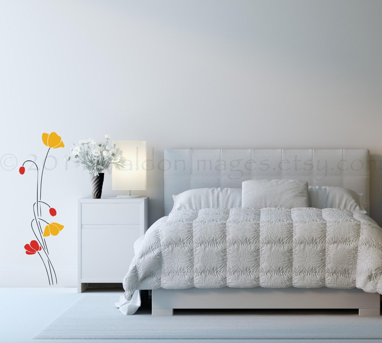 Poppy Flower Wall Decals Elitflat