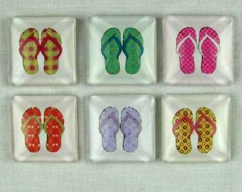 Set of Six Magnets Sandals