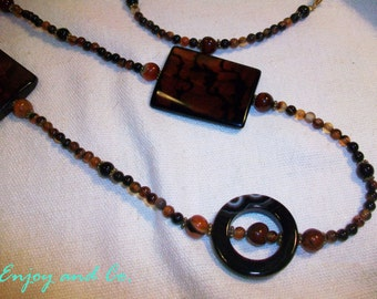 Long necklace Carnelian