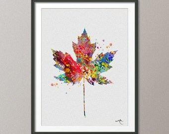 Maple Tree Leaf Watercolor illustrations Art Print Giclee Wall Decor Art Home Decor Wall Hanging No 180