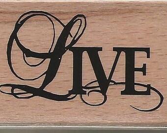 Studio G LIVE Rubber Stamp