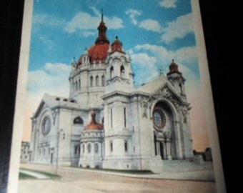 St Paul Minnesota St Paul Cathedral Vintage Unused Postcard