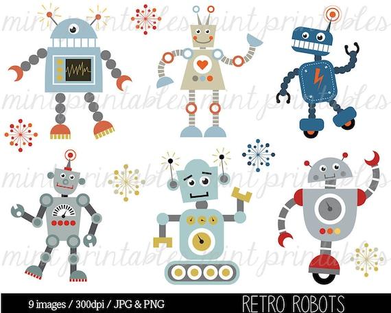retro robot clipart robot clipart birthday clipart robots